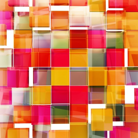 Square block texture abstract orange and purple red background Stock Photo - 19797680
