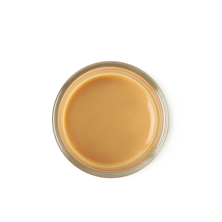 liqueur: Shot of cream liqueur isolated over the white background Stock Photo