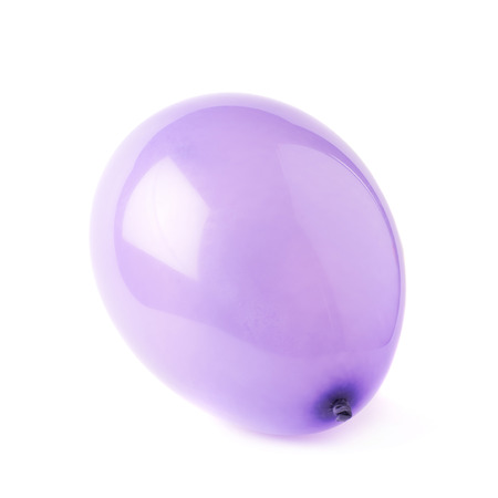 inflated: Inflated violet rubber air balloon isolated over the white background Stock Photo