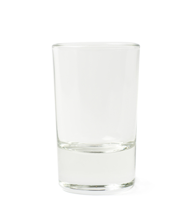 shot: Empty glass shot isolated over the white background