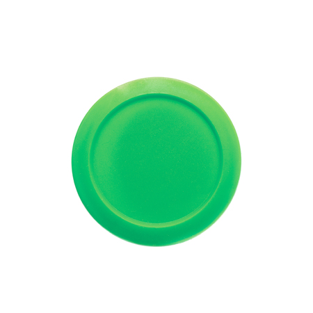 childs play clay: Green modeling clay in a plastic container isolated over the white background