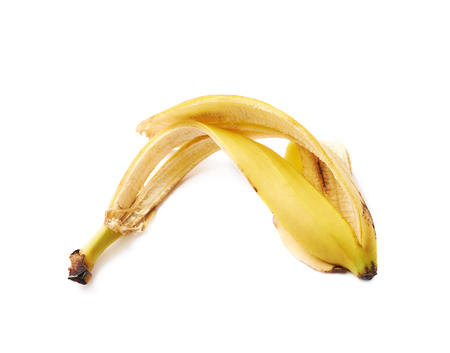banana skin: Banana peel skin isolated over the white background