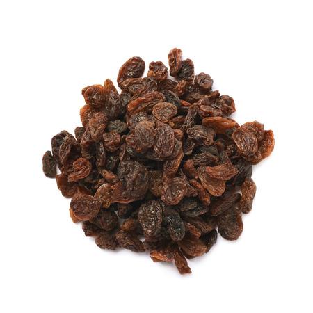 Pile of raisins isolated over the white background Stock Photo
