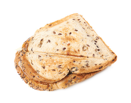 toasted sandwich: Press toasted sandwich panini isolated over the white background