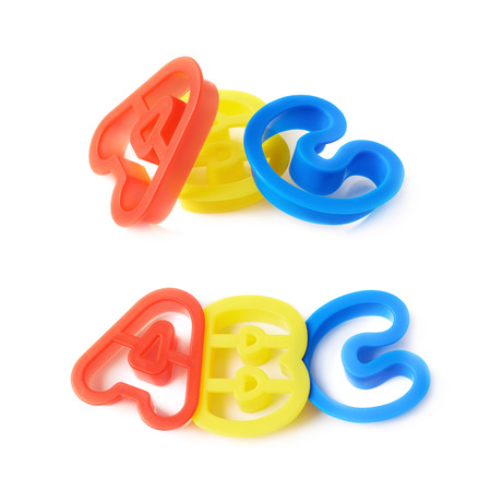 studio b: Plastic ABC letter forms isolated over the white background
