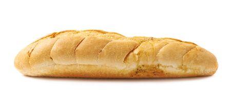 ciabatta: Italian ciabatta white bread isolated over the white background Stock Photo