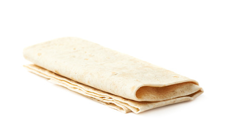 armenian: Thin armenian lavash wrap bread isolated over the white background