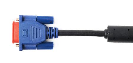 vga: conector del cable VGA macho aislada sobre el fondo blanco Foto de archivo