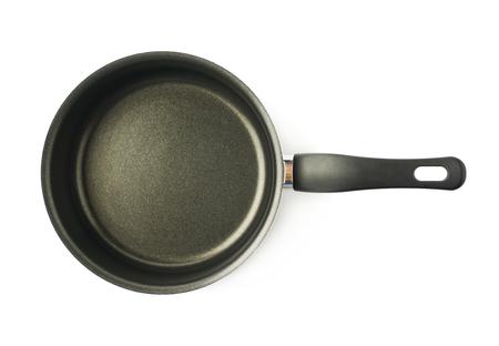 teflon: Teflon coated black sauce pan isolated over the white background