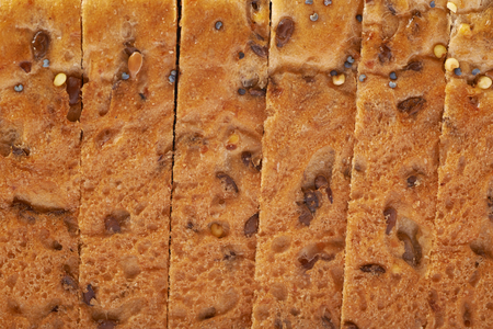 crust: Sliced white bread loafs crust texture close-up fragment Stock Photo