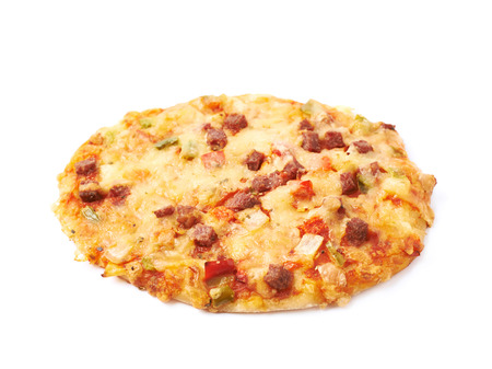 mini pizza: Mini pizza pastry isolated over the white background