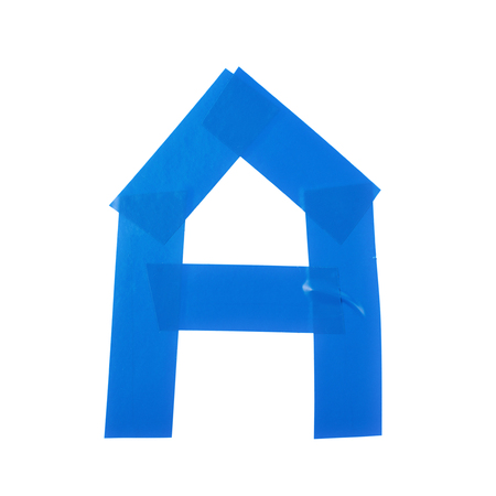 duct: Letter symbol made of insulating tape pieces, isolated over the white background Stock Photo