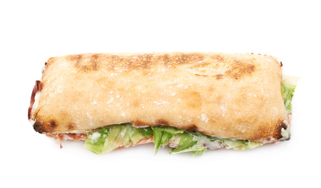 sub sandwich: Sub sandwich isolated over the white background