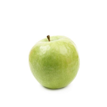 granny smith apple: Single ripe and green granny Smith apple isolated over the white background