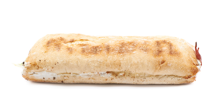 sandwitch: Sub sandwich isolated over the white background