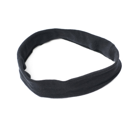 hair band: Black hair band isolated over the white background