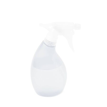 pulverizer: White plastic pulverizer spray isolated over the white background