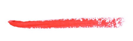 single line: Single line marker stroke of a wax crayon as a design underline element, isolated over the white background