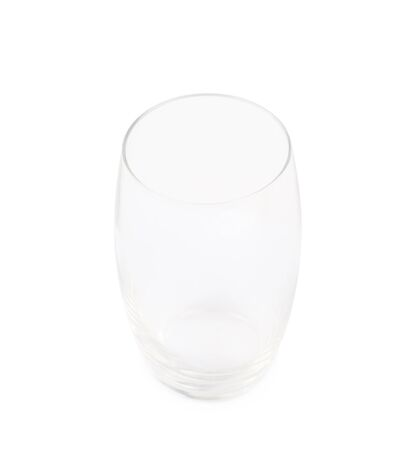 tall glass: Empty tall glass isolated over the white background