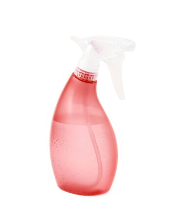 pulverizer: Red plastic pulverizer spray isolated over the white background