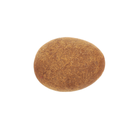 coated: Chocolate coated almond nut isolated over the white background