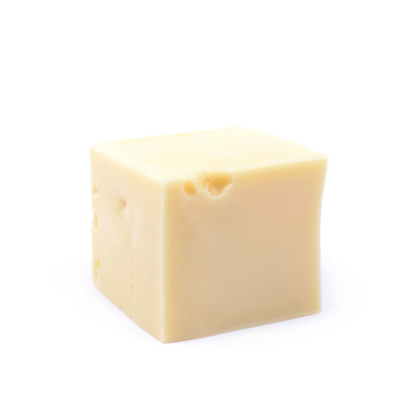 cheez: Piece of cheese isolated over the white background