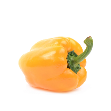 bell peper: Ripe yellow bell pepper isolated over the white background