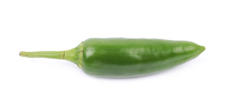 bell peper: Green jalapeno pepper isolated over the white background