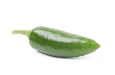 jalapeno pepper: Green jalapeno pepper isolated over the white background