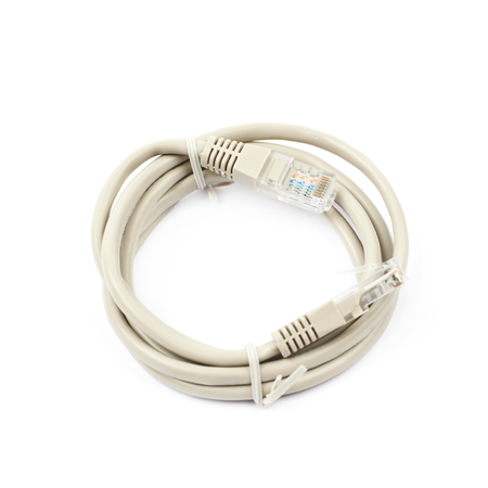 ethernet cable: Folded ethernet cable isolated over the white background