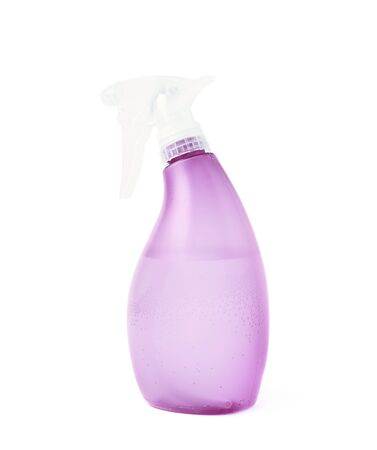 pulverizer: Violet plastic pulverizer spray isolated over the white background