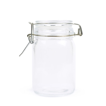 airtight: Glass jar with a lid isolated over the white background