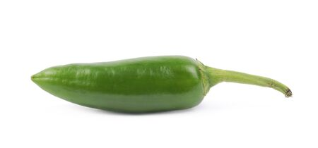 capsaicin: Green jalapeno pepper isolated over the white background