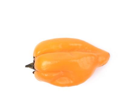 habanero: Orange habanero pepper isolated over the white background Stock Photo