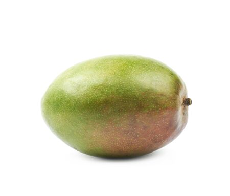 Single ripe mango fruit isolated over the white background