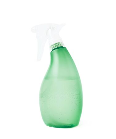 pulverizer: Green plastic pulverizer spray isolated over the white background