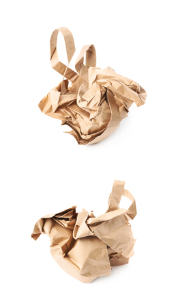 Crumbler paper bag isolated over the white background Stock Photo