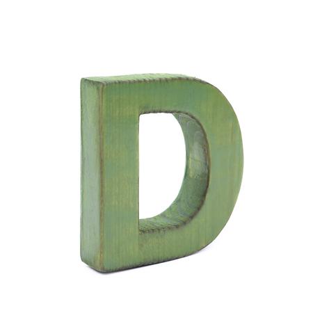 Einzelnes Gesägtes Hölzernes Symbol Des Buchstaben D Beschichtet Mit ...