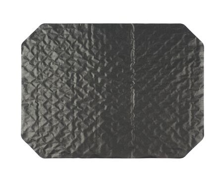 octagonal: Octagonal sheet of black waxed cardboard paper isolated over the white background