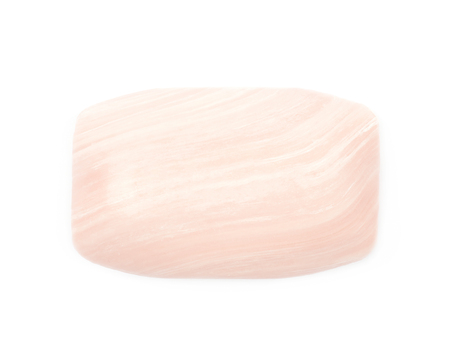 glycerin soap: Single piece of parfumed bath soap isolated over the white background Stock Photo