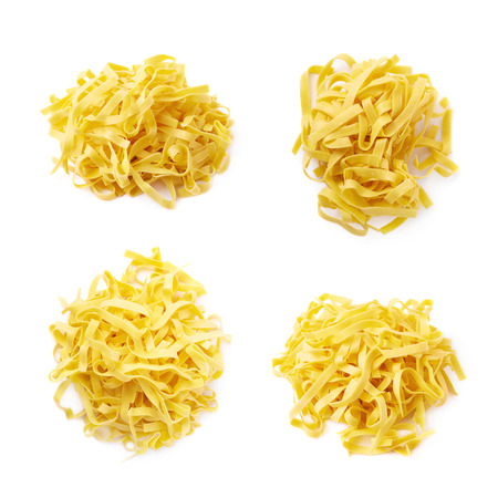 fettuccine: Pile of fettuccine ribbon pasta