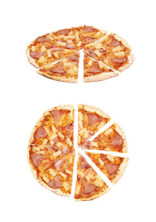 marinara sauce: Hawaiian pizza composition isolated