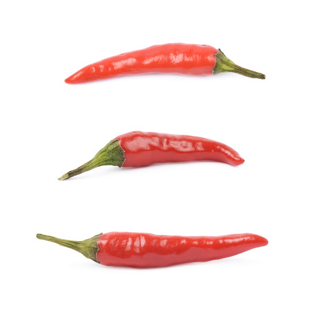 capsaicin: Red italian pepper isolated