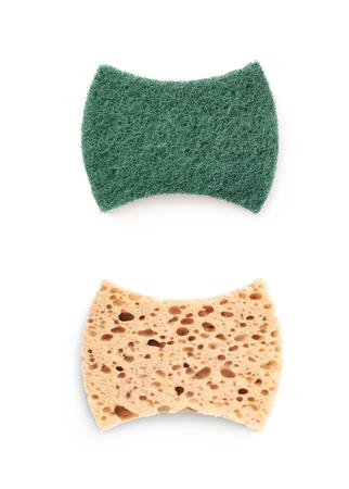 Kitchen sponge isolated