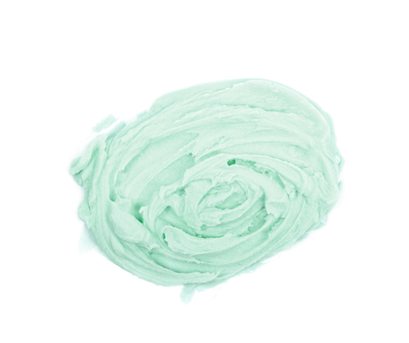 smeared: Smeared frosting cream isolated Stock Photo