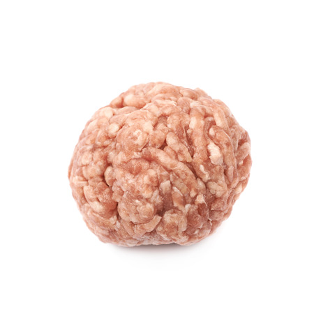 Ball of minced meat isolated Stock Photo