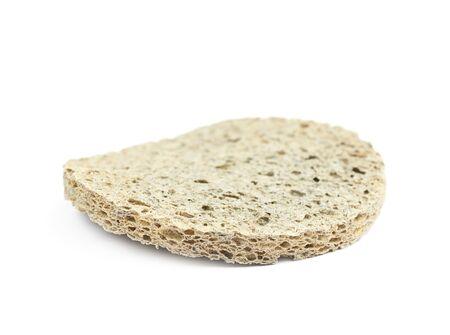 Used make-up cleaning round sponge isolated Stock Photo
