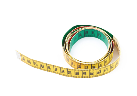 Dieting tape measure isolated