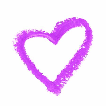 forme: forme de coeur isolé Banque d'images