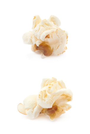 Popcorn flake isolated Stock Photo
